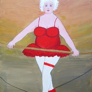 Art: Gran on a Wire by Artist Fran Caldwell