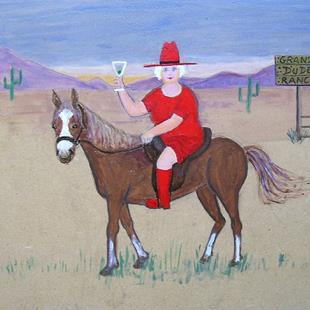 Art: Gran's Dude Ranch by Artist Fran Caldwell