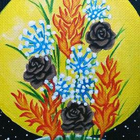 Art: Bouquet of Elements (SOLD) by Artist Monique Morin Matson