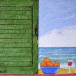 Art: Shabby Shutters III (Sold) by Artist Fran Caldwell