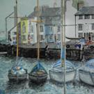 Art: WEYMOUTH HARBOUR, DORSET, UK - SOLD by Artist Julie Jules