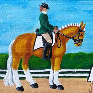 Art: Dressage Palomino  (SOLD) by Artist Monique Morin Matson