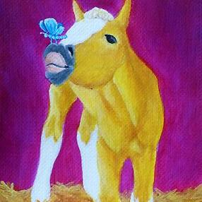 Art: That Tickles! (SOLD) by Artist Monique Morin Matson