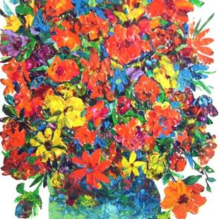 Art: Large Floral Collage - available in my etsy store by Artist Ulrike 'Ricky' Martin