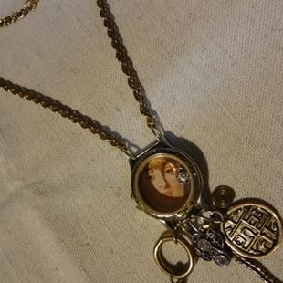 Art: MONETS GIRL NECKLACE (SOLD) by Artist Vicky Helms