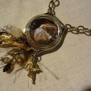 Art: BALLERINA NECKLACE (SOLD) by Artist Vicky Helms