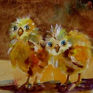 Art: Chubby Chicks-sold by Artist Delilah Smith