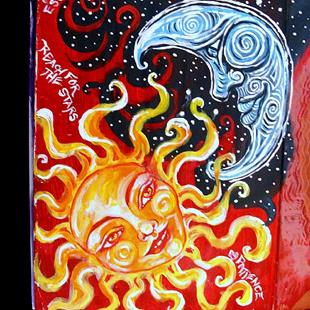 Art: Reach for the Stars: Art Journal Entry by Artist Patience