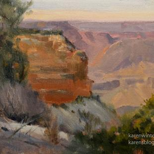 Art: Grand Canyon Afternoon Plein Air Oil Painting by Artist Karen Winters