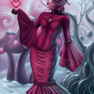 Art: Queen of Hearts - Cold Hearted by Artist Tiffany Toland-Scott