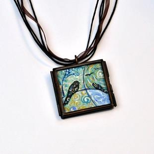 Art: Gogh-ing Home ~ Original Dana Marie Wearable Art by Artist Dana Marie