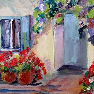 Art: Santorini Geraniums by Artist Delilah Smith