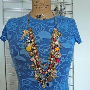 Art: Art Collage Necklace A4 by Artist studio524