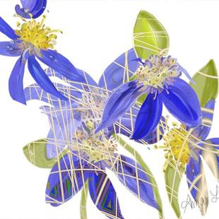 Art: Joe's Clematis by Artist Alma Lee