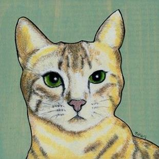Art: Yellow Cat - Sold by Artist Sherry Key