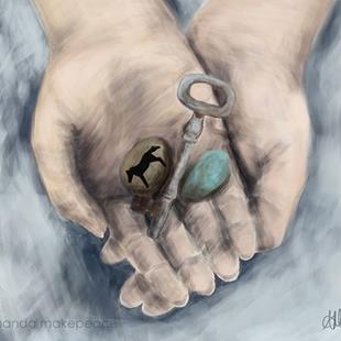 Art: Key to my Past by Artist Amanda Makepeace