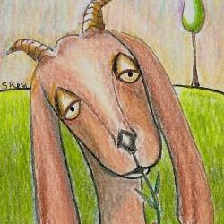 Art: Goat Meal - Sold by Artist Sherry Key