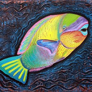 Art: Sea of Portugal Collection Parrotfish by Artist Laura Barbosa