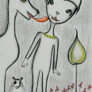 Art: Felix's True Love-Sold by Artist Sherry Key