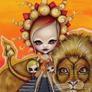Art: Morbidly Adorable Tarot - Sun - Lion Fantasy Art by Artist Misty Monster (Benson)
