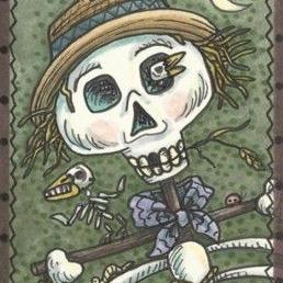 Art: SCARY SCARECROW by Artist Susan Brack