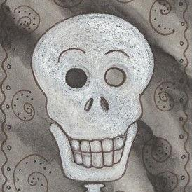 Art: SMILES ARE FREE SKELLY by Artist Susan Brack