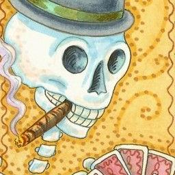 Art: UNCLE JACK LIKED CARDS AND CIGARS by Artist Susan Brack