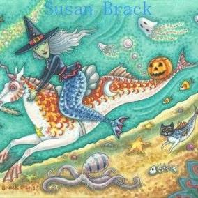 Art: HALLOWS EVE UNDER THE SEA by Artist Susan Brack