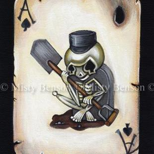 Art: Ace Of Spades Skelly - Day of the Dead Skeleton Art by Artist Misty Monster (Benson)