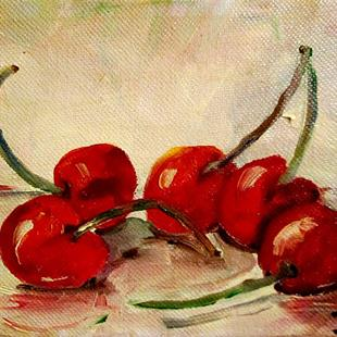 Art: Sour Cherries-sold by Artist Delilah Smith