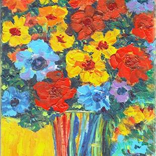 Art: Flowers for Mom by Artist Ulrike 'Ricky' Martin