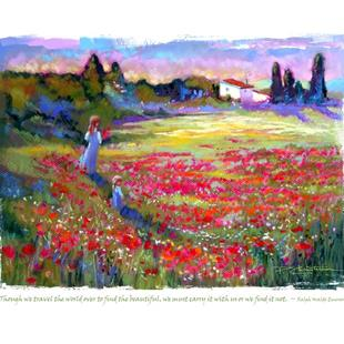 Art: Provence Poppies Field by Artist Patricia  Lee Christensen