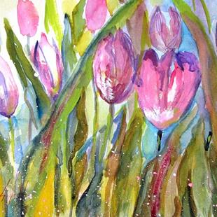 Art: Tulip Field-sold by Artist Delilah Smith
