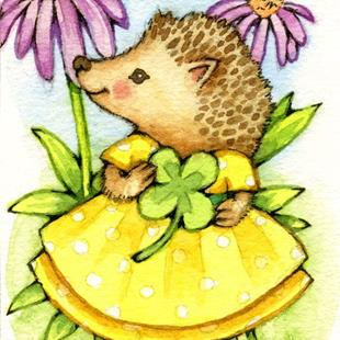 Art: Prickles ACEO by Artist Carmen Medlin