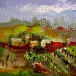 Art: Vineyard View by Artist Delilah Smith
