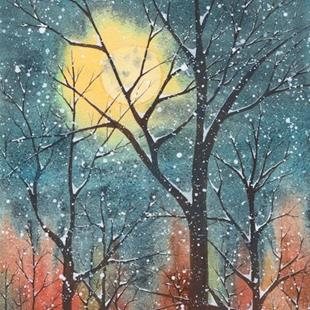 Art: Anne's Winter Moon by Artist Melanie Pruitt