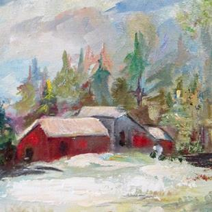 Art: Winter Landscape by Artist Delilah Smith