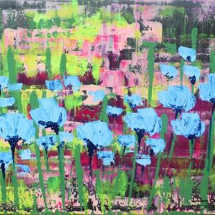 Art: Blue Flowers (s) by Artist Luba Lubin