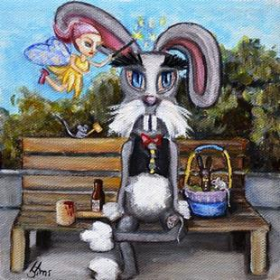 Art: Bunny Foo Foo the later years by Artist Heather Sims