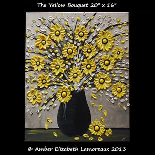 Art: The Yellow Bouquet (Sold) by Artist Amber Elizabeth Lamoreaux
