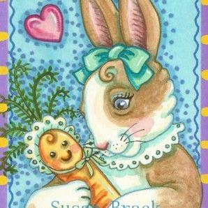Art: RAISING BABY CARROT by Artist Susan Brack