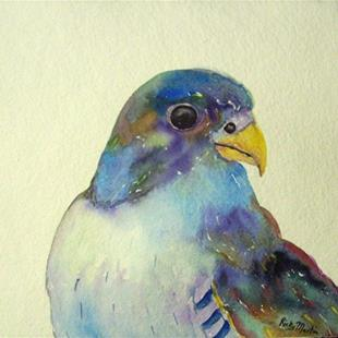 Art: Peregrine Falcon - sold by Artist Ulrike 'Ricky' Martin
