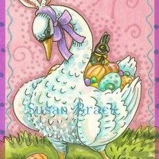 Art: EASTER SWAN by Artist Susan Brack