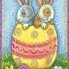 Art: HOPPY EASTER SURPRISE by Artist Susan Brack