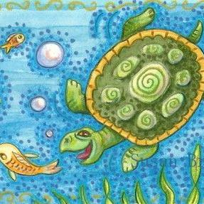 Art: HUNGRY SNAPPER by Artist Susan Brack