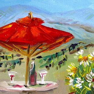 Art: Wine in Sonoma by Artist Delilah Smith