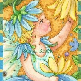 Art: BLUE BELLE by Artist Susan Brack