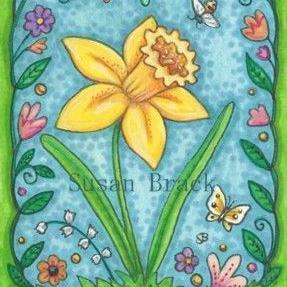 Art: DAFFODIL WELCOME by Artist Susan Brack