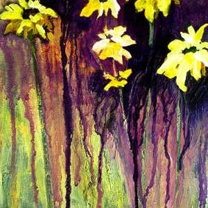 Art: Black-Eyed Susans by Artist Claire Bull