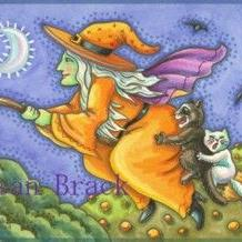 Art: OVER THE PUMPKIN PATCH by Artist Susan Brack
